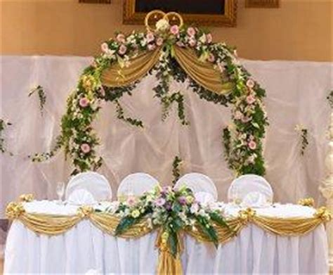 wedding main table decor pictures of head table decorations lovetoknow