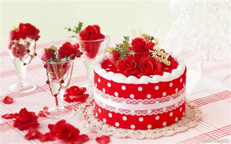 beautiful christmas cake  full image