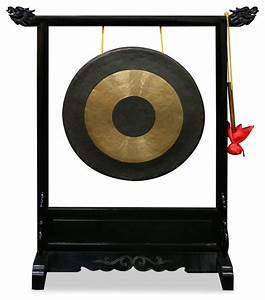 Brass Gong with Dragon Stand - Asian - Home Decor - by