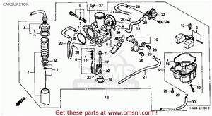 Honda Trx250 Fourtrax Recon 1997  V  Usa Carburetor