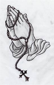 Praying Hands With Rosary Beads Tattoo | Car Interior Design