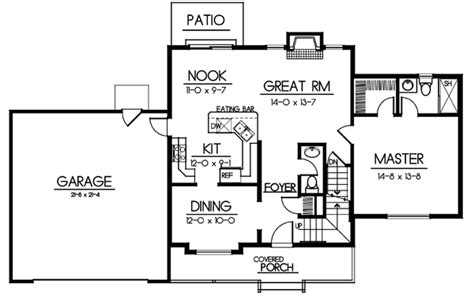 House Plan 91609 Traditional Style with 1727 Sq Ft 4