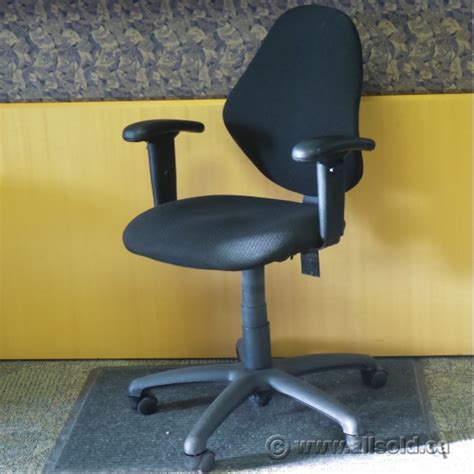 black cloth rolling task chair with arms allsold ca