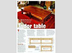 Tudor Table Plans • WoodArchivist