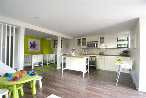 Home Daycare Design Ideas by Basement Daycare With Kitchenette Area For