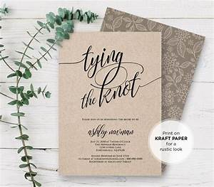 rustic bridal shower invitation printable tying the knot With how to address wedding invitations the knot
