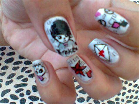 23 Nice Emo Nail Art Ledufacom - Emo Nail Designs - Communiquerenligne
