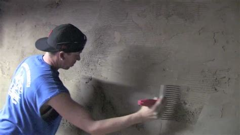 Waterproofing Block Basement Walls by Cellar Basement Wall Re Cementing Stucco Youtube