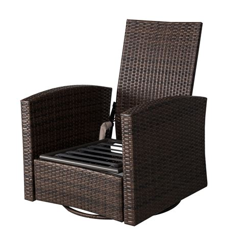 deluxe rattan swivel rocking chair aosom ca