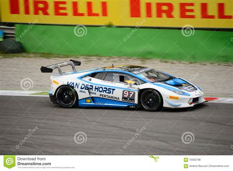Lamborghini Huracán Super Trofeo Race At Monza Editorial