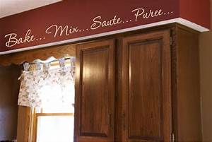 kitchen words actions wall border soffit border vinyl wall With kitchen cabinets lowes with custom word wall art