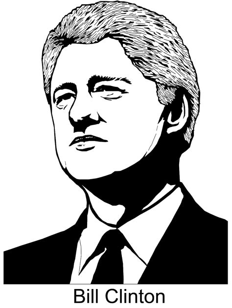 presidents day coloring page bill clinton primarygames