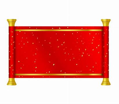 Scroll Paper Golden Transparent Banner Cut Pngimagesfree