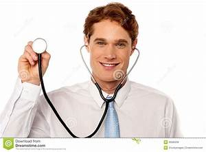 Physician Posing Withstethoscope Royalty Free Stock Photos ...