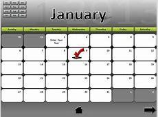 Interactive Calendar A PowerPoint Template from