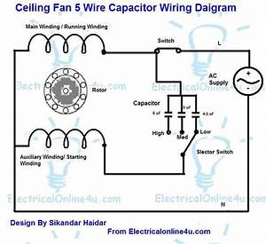 Ceiling Fan Capacitor Connection Diagram Pdf
