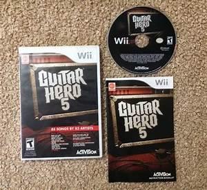 Guitar Hero 5  Nintendo Wii  2009  Complete Game Manual