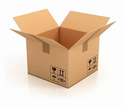 Box Cardboard Empty Open 3d Illustration