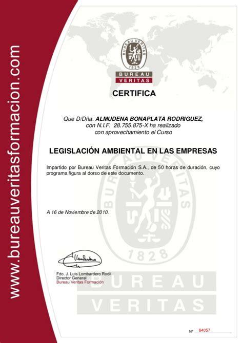 bureau m騁al bureau veritas curso legislación ambiental en las empresas 2010 c