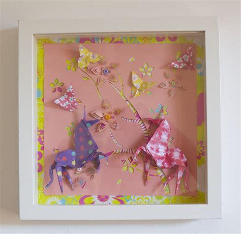 cadre décoration chambre bébé cadre origami bébé décoration chambre enfant animaux