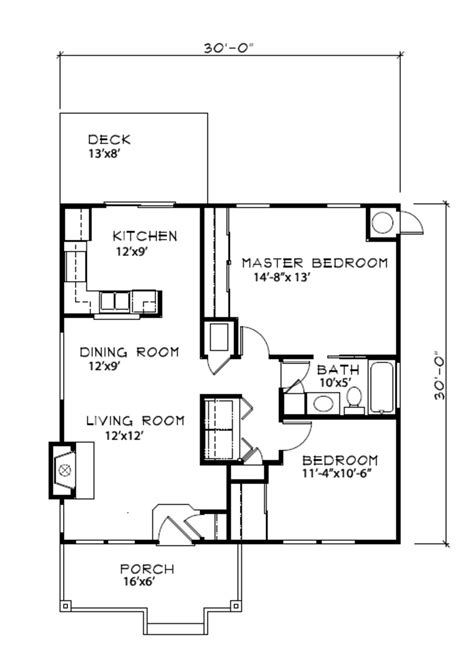 Cottage Style House Plan 2 Beds 1 00 Baths 900 Sq/Ft