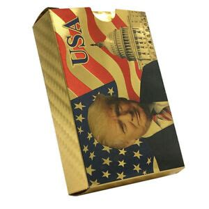 Donald trump was conservative of the year in 2017 and 2018. US President Donald Trump 24K Gold Foil Playing Cards Poker Game Deck   eBay
