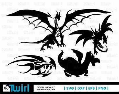 Dragon Draco Chinese Svg Silhouette Firedrake Flying