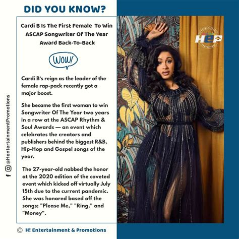 Did You Know: Cardi B Is The First Female To Win ASCAP ...