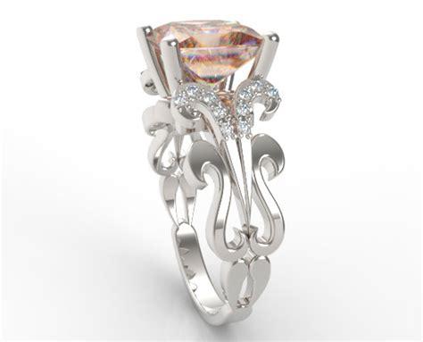 custom white gold princess cut morganite engagement ring vidar jewelry unique custom