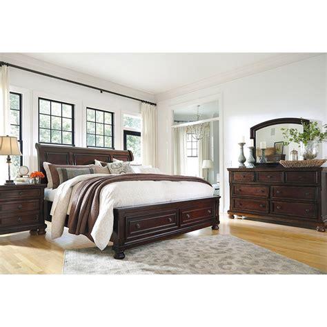 Porter King Sleigh Bed by Porter King Bed B697 Kbed Furniture Afw
