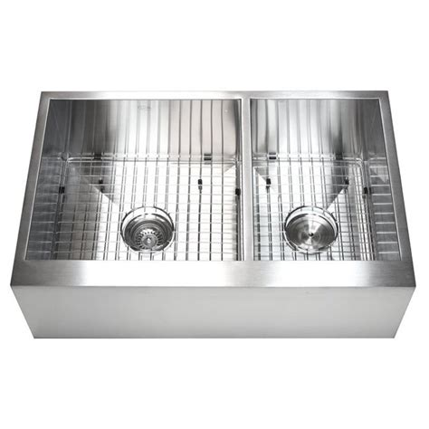 kitchen sink with cabinet 33 inch stainless steel 6040 bowl flat front farm 6040