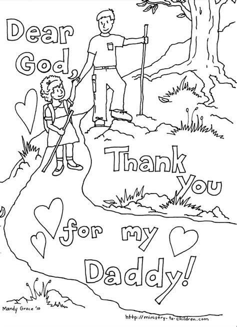 fathers day coloring pages   easy print
