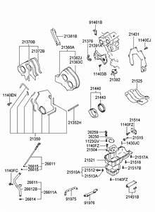 2002 Hyundai Xg350 Belt Cover  U0026 Oil Pan