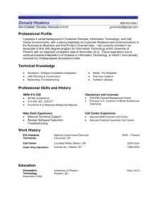 Professional Profile Resume Examples