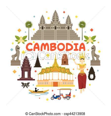 cambodia travel attraction label landmarks tourism