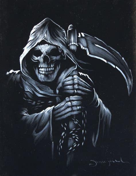 Death Grim Reaper Devil, satan, Portrait Original Oil