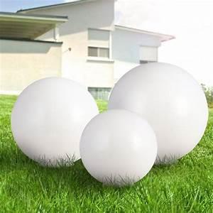 Lumiere Jardin Solaire : set 3 lampe solaire jardin boule del lumi re led luminaire ~ Premium-room.com Idées de Décoration
