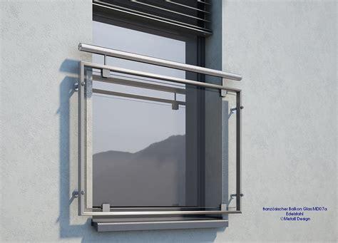 franzoesischer balkon glas mdap edelstahl deutschland