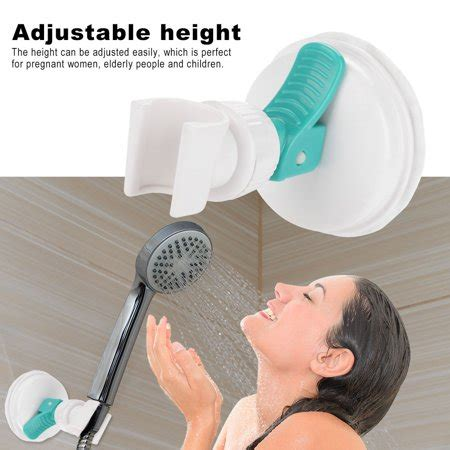 TOPINCN Strong Suction Cup Adjustable Shower Head Holder ...