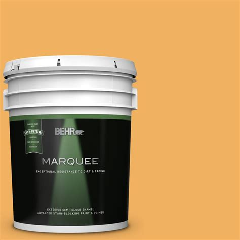 behr marquee 5 gal pmd 74 sweet honey semi gloss enamel