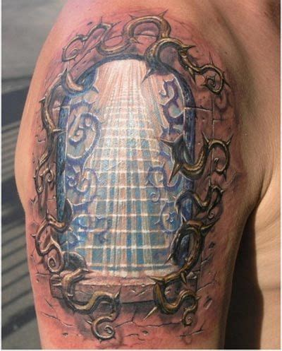 Staircase To Heaven Tattoo by 10 Realistic 3d Tattoo Designs