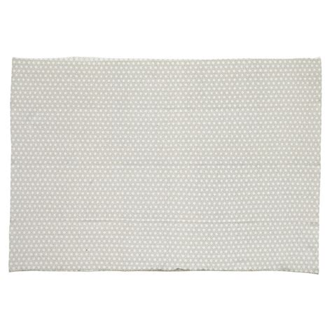 tapis en coton gris 140 x 200 cm origami maisons du monde