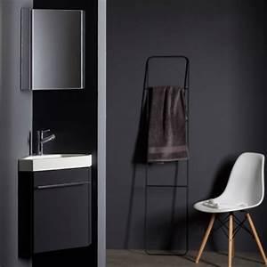 Petit Lave Main D Angle Wc : meuble lave main de coin gris pas cher planetebain ~ Premium-room.com Idées de Décoration