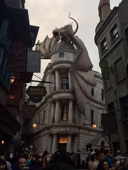 Universal Studios Gringotts Bank Orlando Awesome