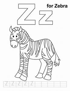 Free z is for zebra coloring pages