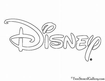 Disney Stencil Drawing Font Drawings Disneyland Coloring