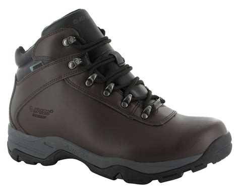 s boots uk waterproof hi tec eurotrek 3 iii waterproof mens leather walking hiking boots ebay