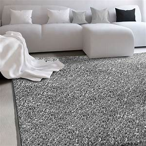 tapis shaggy gris la qualite casa purar a petit prix 7 With tapis décoratif salon
