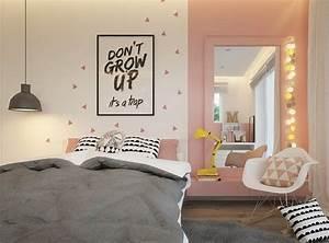 deco murale chambre enfant papier peint stickers peinture With peindre un pan de mur en couleur 13 design peindre un mur rose dans son appart