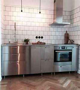 Ikea Küchen Beispiele : edelstahlarbeitsplatte industriestil ikea metod grevsta k che k che ikea k che und ~ Frokenaadalensverden.com Haus und Dekorationen